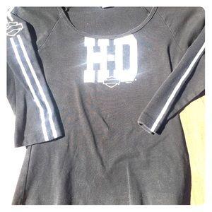 Harley Davidson Women's 3/4 Length Sleeve Tee